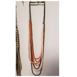 Premier designs Papaya 7 strand necklace